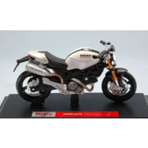 Ducati Monster 696 White Pearl Moto by Maisto
