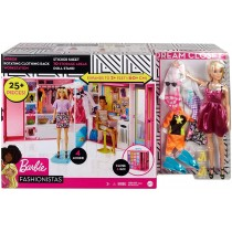 Mattel Barbie Armadio dei Sogni Include una Bambola con 4 Look Diversi e più di 25 Accessori