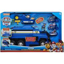 PAW Patrol Mega Camion della Polizia 5 in 1 di Chase con Luci ed Effetti Sonori