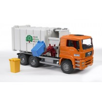 Man TGA side loading garbage truck