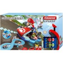 Carrera Toys Carrera FIRST Nintendo Kart – Set pista da corsa a batteria e due macchinine con Mario e Yoshi