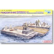 Panzerfähre Fährendeck mit Gepanzerter Landwasserschlepper Prototype Nr. II