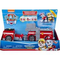 PAW Patrol camion dei pompieri 2-in-1 trasformabile Marshall Split-Second Vehicle con 2 personaggi collezionabili
