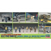 W.W.II Pilot Figure Set (Japanese German U.S./British Pilot Figures)