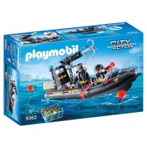 Playmobil Action Gommone unità speciale