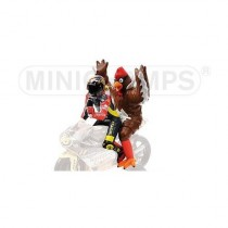 Figura V.Rossi + Chicken 1998 Barcellona Gp 1:12