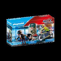 Poliziotto in moto e ladro Playmobil 75072