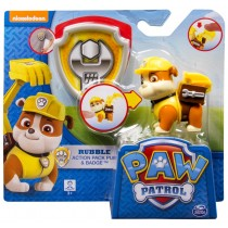Paw Patrol Rubble action pack pup & badge Spin Master