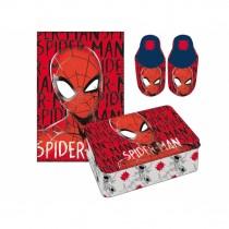 Spiderman set plaid + pantofola