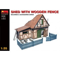 Shed With Wooden Fence