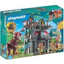 Playmobil T-rex and Base campo base