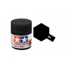 Tamiya Color Acrylic Paint (Gloss) – Colori lucidi. Mini X-1 black