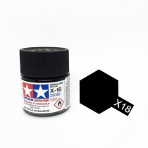 X-18 Semi Gloss Black. Tamiya Color Acrylic Paint (Gloss) – Colori lucidi