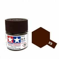 Tamiya Color Acrylic Paint (Gloss) – Colori lucidi. Mini X - 9 Brown