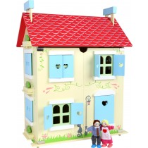 Casa delle bambole con tetto smontabille