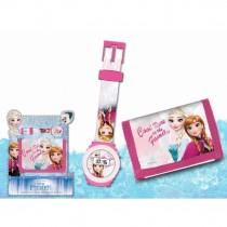 Frozen set orologio + portafoglio