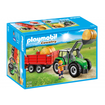 Tractor with trailer Playmobil