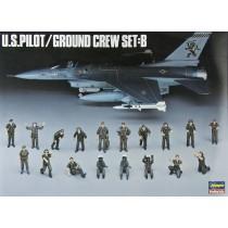 U.S. Pilot / Ground Crew Set B by Hasegawa