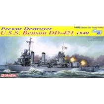 USS Benson class Destroyer Benson DD-421 1940