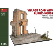 Village Road w/Ruined House by MiniArt