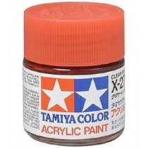X-27 Clear Red. Tamiya Color Acrylic Paint (Gloss) – Colori lucidi