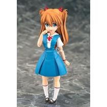 Rebuild of Evangelion Parfom R! Action Figure Asuka Shikinami Langley School Uniform Ver.
