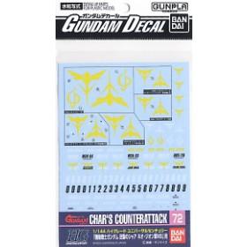 Gundam Decal for (1/144) Gundam Char`s Counter Attack Neo Zeon (Gundam Model Kits)