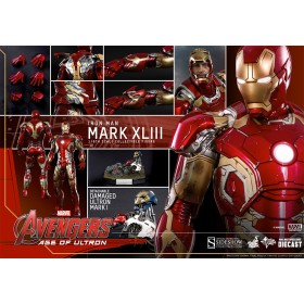 """Iron Man 12"""" Mark 43 Die cast by hot toys"""