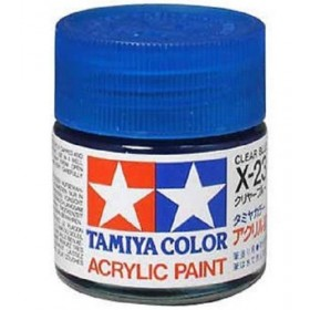 X-23 Clear Blue. Tamiya Color Acrylic Paint (Gloss) – Colori lucidi