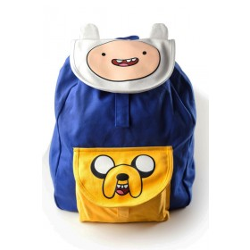 Adventure time logo eyes blue yellow bag