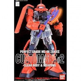 Perfect Grade MS-06 Zaku II Custom Set 2 clear body & Weapons