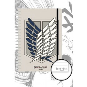 Attack on Titan Badge A5 notebook