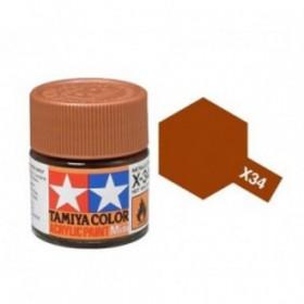 X-34 Metallic Brown. Tamiya Color Acrylic Paint (Gloss) – Colori lucidi