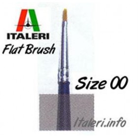 Italeri Size 00 Synthetic Flat Brush