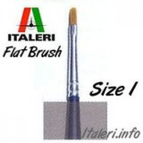 Italeri Size 1 Synthetic Flat Brush