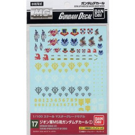 Gundam decal 17 Multi Zeon MG Bandai