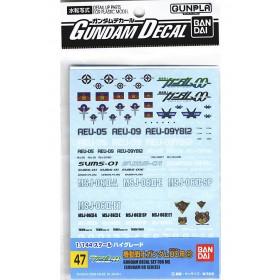 Gundam decal OO Multi GD47