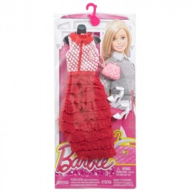 Look glamour Barbie abito lungo rosso