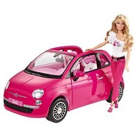 Mattel Barbie Fiat 500 with Doll