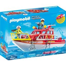 Playmobil 70147 -  Barca dei Vigili del Fuoco