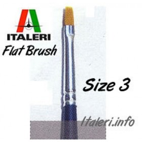 Italeri Size 3 Synthetic Flat Brush