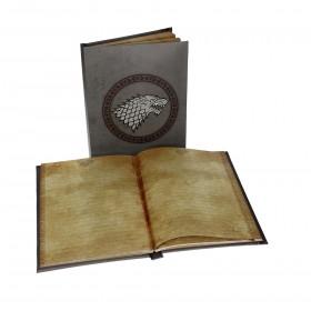 Game of Thrones stark notebook w/light