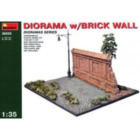 Diorama w/Brick Wall