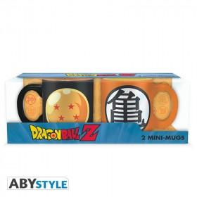 DRAGON BALL - Set 2 espresso mugs - 110ml - DBZ /Dragon Ball & Kame