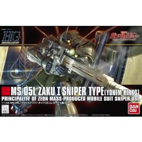 HGUC Zaku  I Sniper Type Yonem Kirk 1/144