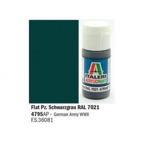 Flat PZ. Schwarzgrau RAL 7021