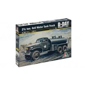 Ton, 6x6 Water Tank Truck