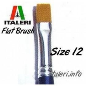 12 Brush Synthetic Flat