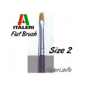 Italeri Size 2 Synthetic Flat Brush