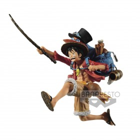 One Piece Three Brothers PVC Statue Monkey D. Luffy